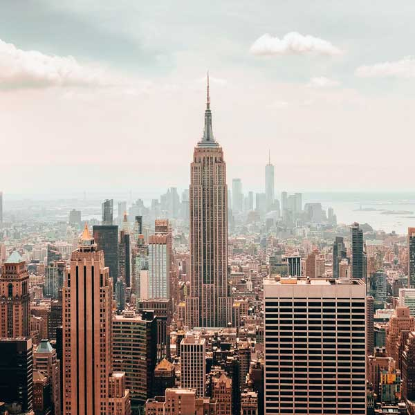 The Empire State Building in the midst of New York City